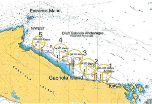 Gabriola Anchorage Sites
